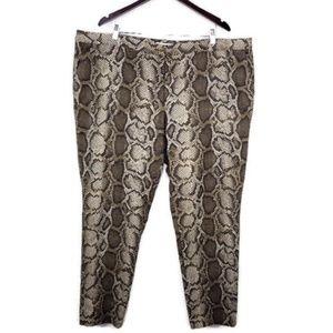 Michael Kors Snake Python Print Pants 22W